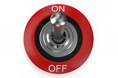 Round metallic switch Stock Photo