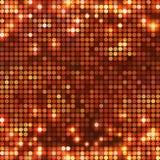 Round miedziana mozaika dostrzega horyzontalnego Zdjęcia Stock