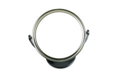 Round mirror. On white background with copy space in the center Stock Image