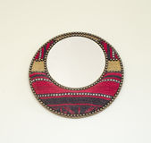 Round mirror souvenir from Tunisia Stock Images
