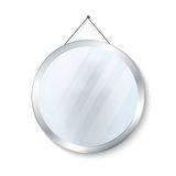 Round mirror with steel frame vector illustration Stock Images