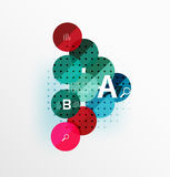 Round modern circle option infographic diagram Royalty Free Stock Photography