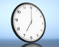 Round Modern Office Clock Stock Photography