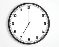 Round Modern Office Clock Stock Image