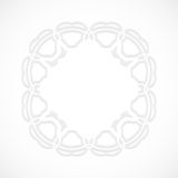 Round modern white pattern simulated by a laser cut-out or cut paper, decorative ornamental for decorating or design. Round modern white pattern simulated by a Stock Image