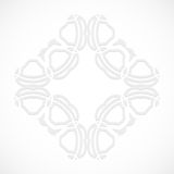 Round modern white pattern simulated by a laser cut-out or cut paper, decorative ornamental for decorating or design Royalty Free Stock Photography