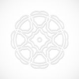 Round modern white pattern simulated by a laser cut-out or cut paper, decorative ornamental for decorating or design Stock Images