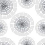 Round monochrome seamless Stock Images