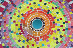 Round mosaic tile pattern in many colors Stock Photography