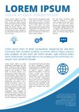 Round motion cover. Blue Colored with elipse, modern business motion style inner page inforgraphics design for booklet, brochure, annual report, proposal A4 Stock Photos