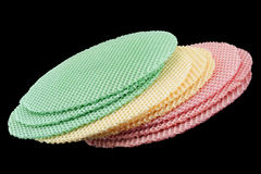 Round multicolor wafer blank cake Stock Photo