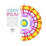 Round multicolor wektorowy ornament 1 zaproszenie karty Obrazy Stock