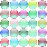 Round multicolored buttons Royalty Free Stock Photo