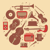 Round music composition Royalty Free Stock Image