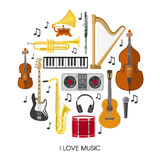 Round Music Composition Royalty Free Stock Photography