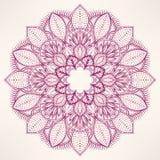 Round natural purple pattern Stock Photo
