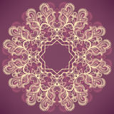 Round natural purple pattern Stock Images
