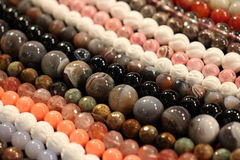 Round stone beads Royalty Free Stock Image