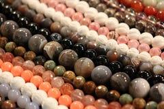 Round stone beads Royalty Free Stock Image