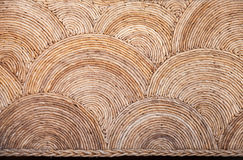 Round natural wicker ornament background Stock Photo