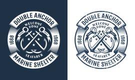Round nautical logo vector illustration