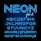 Round Neon Font Royalty Free Stock Photos