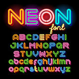 Round Neon Font Royalty Free Stock Photo