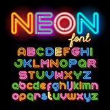 Round Neon Font Royalty Free Stock Photo