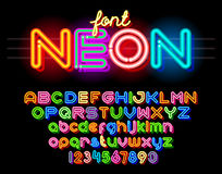 Round Neon Font Royalty Free Stock Photography