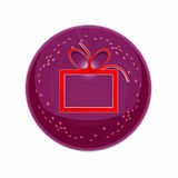The round New Year's button-icon Royalty Free Stock Images