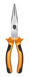 Round nose pliers. With orange handles and black accents Royalty Free Stock Photography