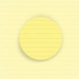 Round notepaper Royalty Free Stock Image