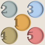 Round numbered banners Royalty Free Stock Photos