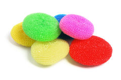 Round Nylon Scourers Royalty Free Stock Images