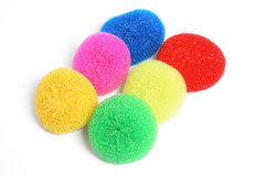 Round Nylon Scourers Stock Images