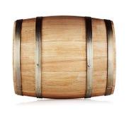 Round oak barrel. Isolated on white background Stock Photography
