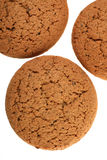Round oat cookie Stock Images