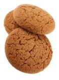 Round oat cookie Stock Photo