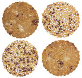 Round oatmeal cookies Stock Image