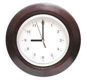 Round office clock Royalty Free Stock Images
