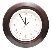 Round office clock Stock Photos