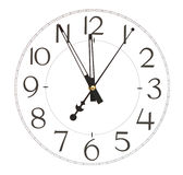 Round office clock Stock Images