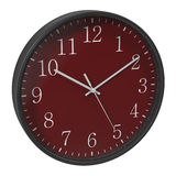 Round Office Clock on white. 3D illustration Royalty Free Stock Photos