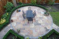 Round ogrodowy patio Obrazy Royalty Free