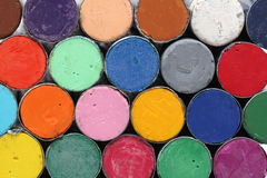 Round oil pastels crayons Stock Images