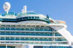 Round okno na statku wycieczkowego wierzchołka pokładzie Zdjęcie Royalty Free