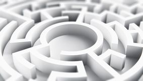 Round okręgu labityntu labirynt ilustracji