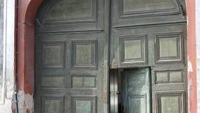 Round Old Door stock video footage