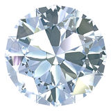 Round, old european cut diamond Royalty Free Stock Photo