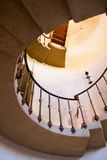 Round old staircase going up Royalty Free Stock Images